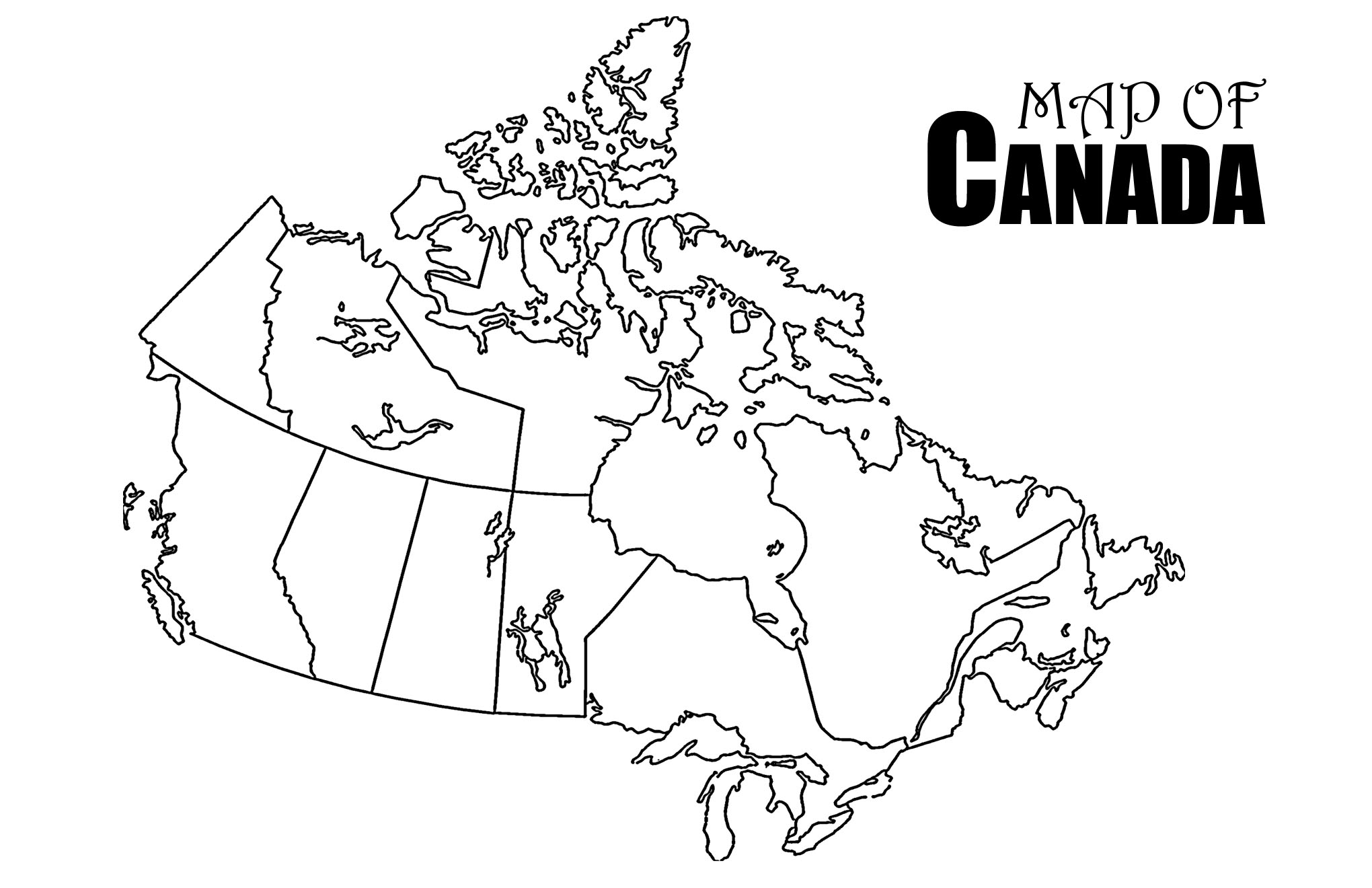 It's just a photo of Smart Printable Map of Canada